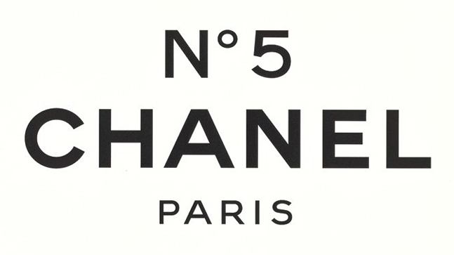 Chanel perfume bottle black and white